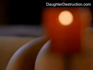 Черный Дочь Занимать Огромное Дюймов Петух