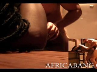 Странный Африканских Любительской Любит Давать Красивой Головой И Сунул
