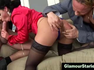 Противно Глэм-Шлюха Секс Втроем