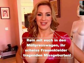 Умереть Латекс Горничной Luder Wir Wollen Scheiss Transvestitenschweine Totpressen!