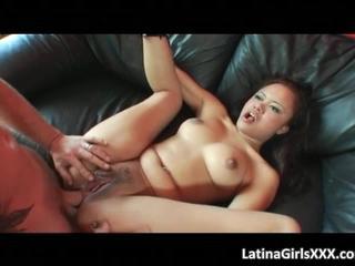 Horny Latina Получает Придурок Трахал