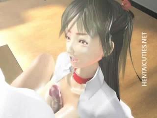 Горячая 3D Порно онлайн Школьница Дает Titjob