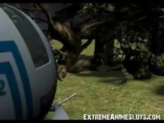 Щупалец каких-то Дерево трахает 3D Детка!