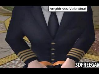 Ланина Шлюха трахнут Doggystyle В 3D