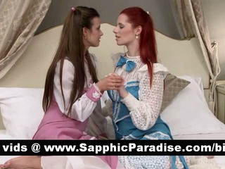 Удивительно Brunette Лесбиянки Целуются И Имея Лесбийский Секс
