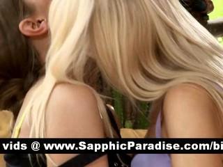 Удивительно Блондинки И Брюнетки Лесбиянки Целуются И Имеющие Секс Лесбиянок