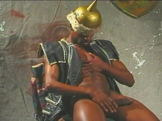 Черный Солдат Порку Обезьяна
