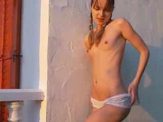 Сексуальные Подросток Делает Открытый Мастурбация