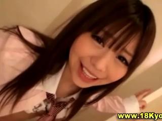 Сексуальный Японская Школьница Становится Непослушным