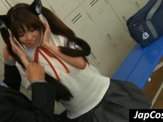 Япония Школьницы Получает Ухо Лизнул Учителем