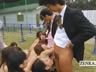 Странные японские ПОРНО Рабы Открытый Группа Минет