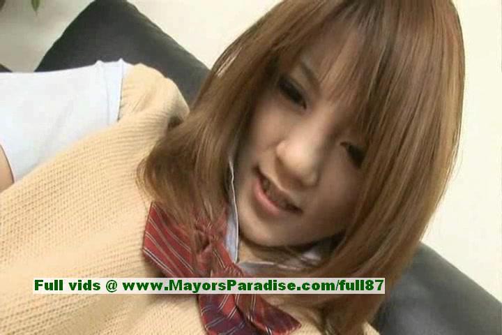 Risa Tsukino Hot Babe Прекрасный Азиатская Модель Получает Киска Дразня С Отличная Игрушка