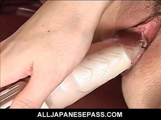 Супер гей японской Модели AV Использует Вибратор Игрушка Ее Бритая Киска