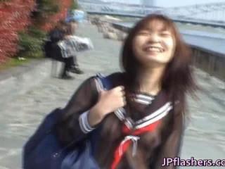 Mikan Горячая Азиатская Модель Любит Ее Мигающий