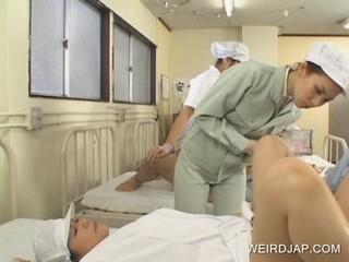 Японская Медсестра Получение Прибили Жесткий