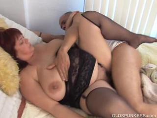 Красивые голые зрелые BBW В Секси Чулки