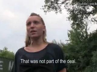 Блондинка Чешская Девушка Берет Деньги За Публичный Секс И Порнография
