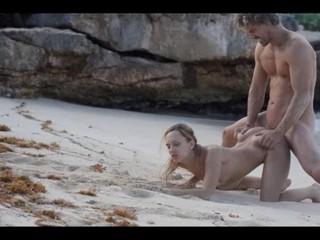 Экстремальное Искусство Секса Горячего Пара На Пляже