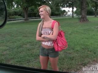 Блондинка Мотыгу Взял За Секс В Автобусе