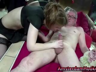 Настоящие Чулки Голландская Шлюха Получает Fucked