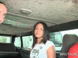 Гей Любительские Babe Езда Жестокой Автобус Для Секса
