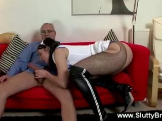 Старик Doggystyling Подростков Медсестра