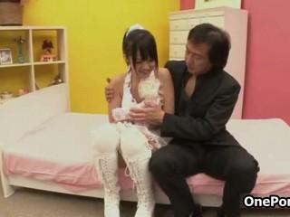 Симпатичный Японский Подросток Девушка Получает Нащупывала