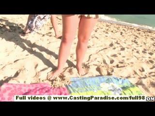 Брук Ли Адамс Подростков Подруга С Большой Задницей И Природных Сиськи Получает Голых На Пляже