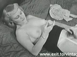 Винтаж Мастурбация 1931 Году С Блондинкой Менструации