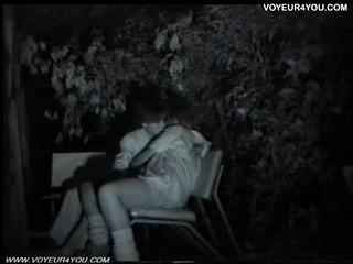 Камера Ночного Видения Скамейке Парка