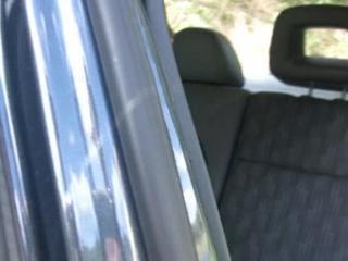 Порнозвезда Angel Dark Заднее Сиденье Автомобиля Мастурбация Дилдо