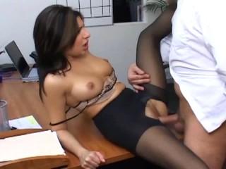 Басти Секретарь В Полном Хуи Имеет Офис Секс