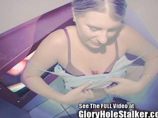 Gloryhole Жена Обеспечивает Удаление Посторонних Краны